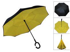 Зонт обратного сложения Up-Brella Желтый (25000-nri)