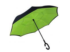 Зонт обратного сложения Up-Brella Зеленый + чехол (28000-nri)