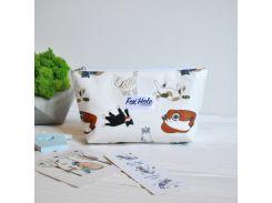 Косметичка Мини FOX HOLE Laminated Котики Белый (3-FoxHole-14)