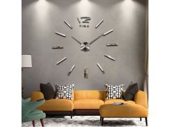 Настенные 3D часы 4203 Серебристые (16-4203-1)