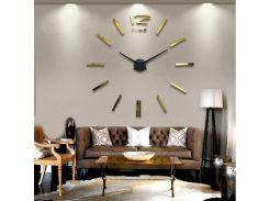 Настенные 3D часы 4203 Золотистые (16-4203-3)