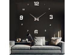 Настенные 3D часы 4205 Серебристые (16-4205-1)