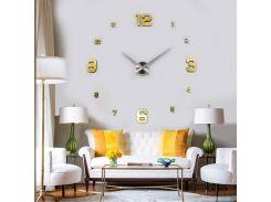 Настенные 3D часы 4205 Золотистые (16-4205-3)