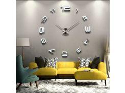 Настенные 3D часы 4208 Серебристые (16-4208-1)