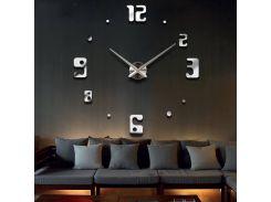 Настенные 3D часы 4209 Серебристые (16-4209)