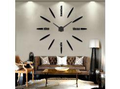 Настенные 3D часы 4212 Черные (16-4212-2)