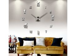 Настенные 3D часы 4220 Серебристые (16-4220)