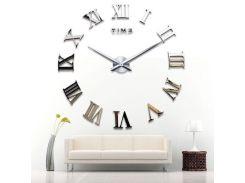 Настенные 3D часы 4309 Серебристые (16-4309-1)