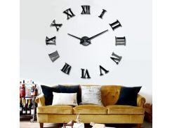 Настенные 3D часы 4309 Черные (16-4309-2)