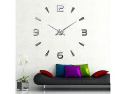 Настенные 3D часы 4318 Серебристые (16-4318-1)