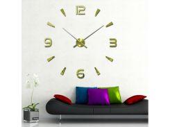 Настенные 3D часы 4318 Золотистые (16-4318-3)