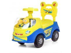 Машинка толокар детская каталка Bambi 238-DM Миньоны Синий с желтым (008800)