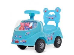 Машинка толокар детская каталка Bambi 228-4 PP Свинка Пеппа Голубой (008799)