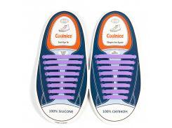 Силиконовые шнурки Coolnice В01 Фиолетовый (nr1-318)