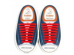 Силиконовые шнурки Coolnice В02 Красный (nr1-316)