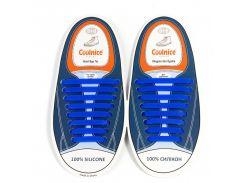 Силиконовые шнурки Coolnice В01 Синий (nr1-317)