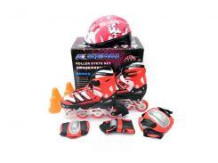 Ролики детские со шлемом и защитой Kepai F1K9 размер 30-33 Красные (10-SAN013)
