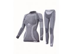 Комплект женского термобелья Haster Merino Wool S/M Темно-серый