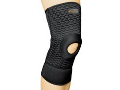 Бандаж спортивный для колена Spokey Lafe фиксатор открытый S Черный (s0409)