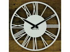 Настенные Часы Glozis Rome 35х35 см Белый (B-023)