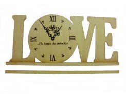 Часы настольные настенные Love Гранд Презент Бежевый (L1801)