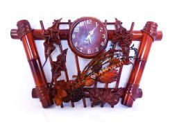 Часы Гранд Презент Трапеция Кожа и бамбук (ЧК26)