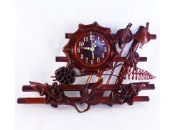 Часы Гранд Презент Фентези Кожа и бамбук (ЧК22)