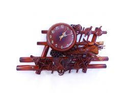 Часы Гранд Презент Иллюзия Кожа и бамбук (ЧК21)