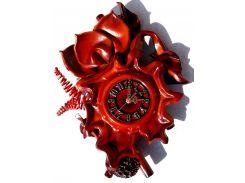 Часы Гранд Презент Лепестки малые Кожа и бамбук (ЧК03)