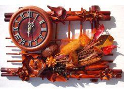 Часы Гранд Презент Сухоцветия Кожа и бамбук (ЧК02)
