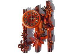Часы Гранд Презент Три паралели Кожа и бамбук (ЧК01)