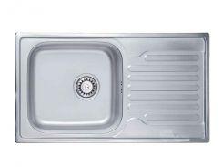 Кухонна мийка Ula satin одинарна 78x43 см Сірий (140066)