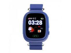 Детские смарт-часы телефон с Wi Fi и GPS UWatch Q90 dark blue (in-105)