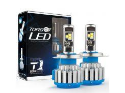 Автомобильные LED лампы CanBus TurboLed T1 H1 6000K 35W 12/24v с активным охлаждением (ml-38)