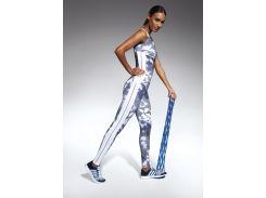 Женские спортивные леггинсы Bas Bleu Code L Бело-синий (bb0006)