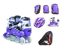 Набор роликовые коньки Scale Sport 34-37 Violet