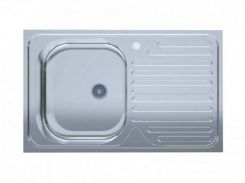 Кухонна мийка Polish врізна лівостороння 50х80 см Сірий (495105)