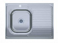 Кухонна мийка Polish врізна лівостороння 60х80 см Сірий (495103)