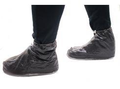 Бахилы для обуви от дождя снега грязи 2Life XL многоразовые с молнией и шнурком-утяжкой Black (nr1-402)