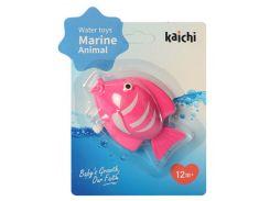 Водоплавающая игрушка KAICHI K999-209 Рыбка заводная Розовая (K999-209-2)