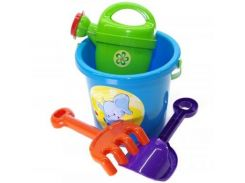 Набор песочный DOLONI TOYS №1 в сетке 013555/1 (Разноцветный)