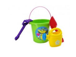Набор песочный DOLONI TOYS №1 в сетке 013555/3 Разноцветный