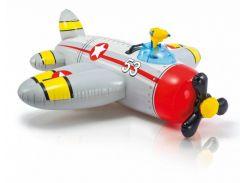 Плотик Intex 57537 Самолет с водным пистолетом Серый