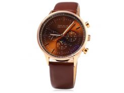 Часы Skmei 9117 Gold Case Brown Dail BOX (9117BOXGBR)