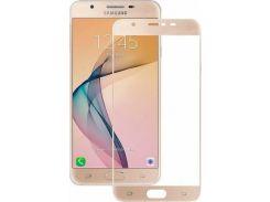 Защитное стекло 5D для Samsung Galaxy J5 Prime J570 Gold (723329147)