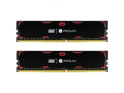 Оперативная память Goodram DDR4 16GB (2x8GB) 2400 MHz Iridium Black (IR-2400D464L15S/16GDC)