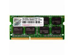 Оперативная память Transcend SODIMM DDR3-1333 4096MB PC3-10600 (TS4GAP1333S)