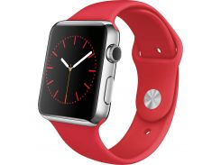 Смарт-часы Apple Watch 42mm Stainless Steel Case with Productred Sport Band MLLE2 (F00107564)