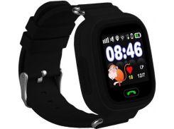 Смарт-часы детские Smart Watch Q100/Q90s с GPS Черные (12823)