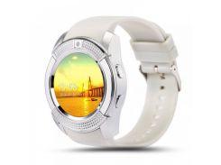 Смарт-часы Smart Watch Phone V8 White (16096)